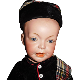 """17"""" Antique All Original SFBJ French Character Toddler Boy Doll Model #226"""