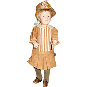 """15"""" Antique Schoenhut Doll With Incised Mark And Some Professional Touch-Up"""