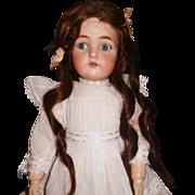 "21"" Antique Simon & Halbig K * R Flirty Eye Doll, Great Body"