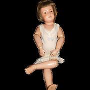 """5"""" Antique Schoenhut Pouty Doll Original Union Suit"""