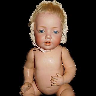 """17"""" Antique Solid Dome J. D. Kestner Hilda Doll Baby  AS IS"""