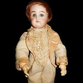 """14"""" Antique German Kestner Doll - Dressed As Boy - Great Cabinet Size"""