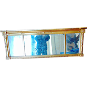 19th Century Classical Gilded Over Mantle Mirror