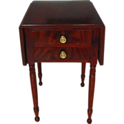 Federal Sheraton Cherry Wood Work Table