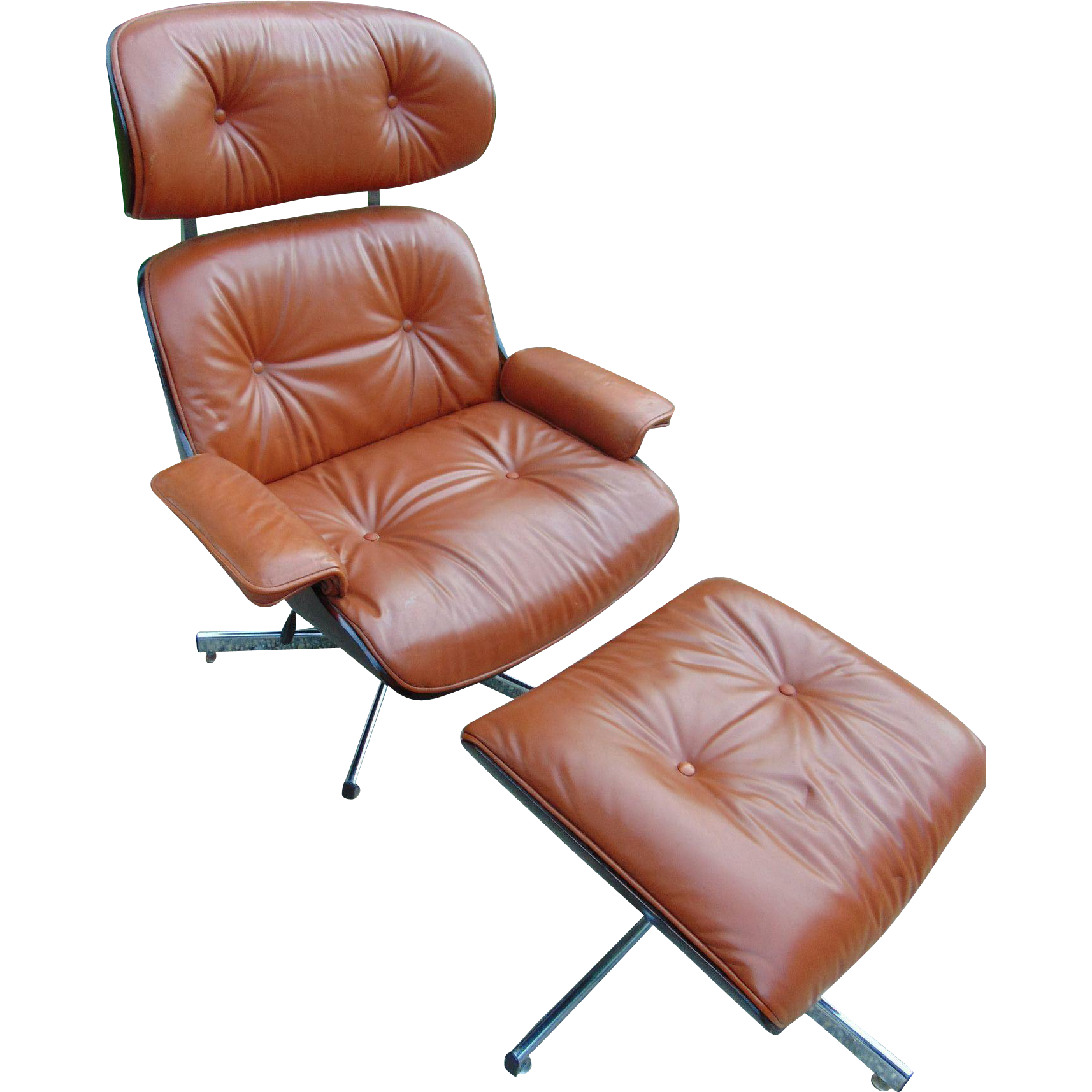 Eames style lounge chair with ottoman pictures to pin on pinterest