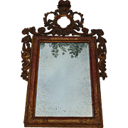 Early 18th Century Baroque Gilded Mirror