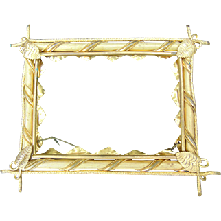 19th Century Gilded Brass Picture Frame