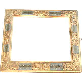 Late 17th Century Carved Polychrome Frame