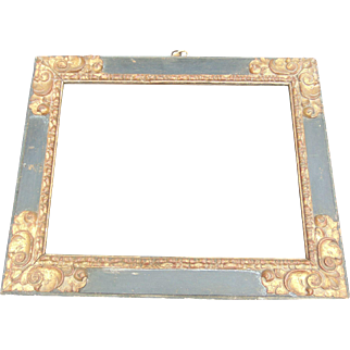 17th Century Polychrome Frame
