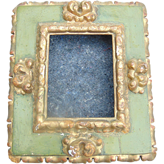 17th Century Small Polychrome Frame