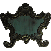 19th Century Silver Plated Brass Mirror