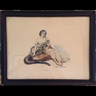 James Montgomery Flagg print, framed