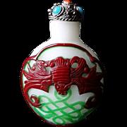 19th C Chinese Snuff Bottle Jewel Cap
