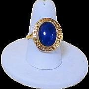 Vintage 14k Lapis Lazuli Ring Size 8