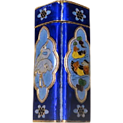 Chinese 20thC. Sterling Gilt Enamel Cloisonne Opium Box