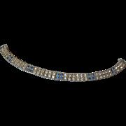 Vintage Art Deco Wachenheimer Diamonbar Sterling Rhinestone Bracelet