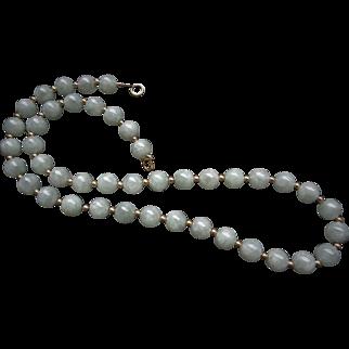 Vintage Translucent 14k Jadeite Necklace