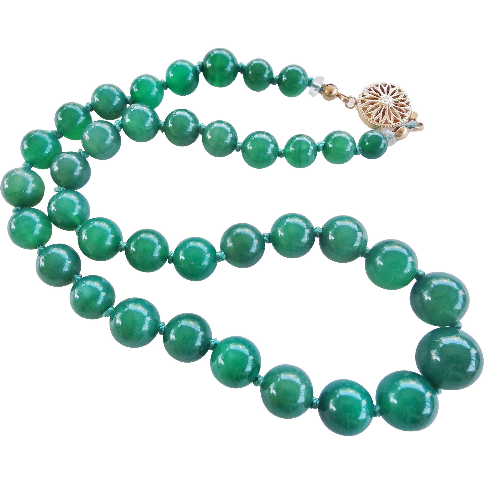 necklaces karat circa by chrysoprase pendant cartier gold necklace and