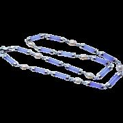 Vintage 1960's Chinese Lavender Jade Champagne Cultured Pearls Necklace & Bracelet