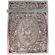 Antique Sterling Silver Filigree Calling Card Case