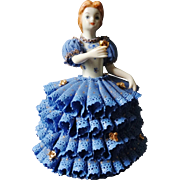 Rare Irish Dresden Muller-Volkstedt Porcelain Lace Figurine Limited Edition