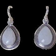 Moonstone Sterling Silver Earrings For Pierced Ears Large Teardrops