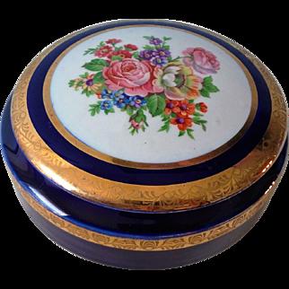 Vintage Limoges Decor Main Porcelain Large Dresser Jewelry Box