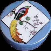 Vintage 1920's Japanese Noritake Art Deco Porcelain Luster Ware Powder Box