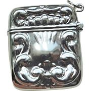 Sterling Silver Large Repousse Square Locket