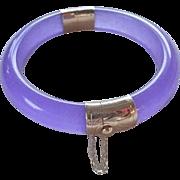 Vintage Chinese 14k Transparent Lavender Jadeite Bracelet