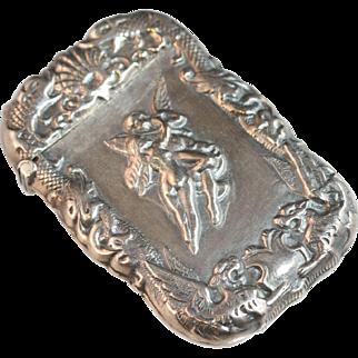 Vintage Art Nouveau Sterling silver Match Safe