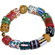 African Krobo Bead Stacking Bracelet - Red Tag Sale Item