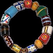 African Krobo Bead Stacking Bracelet