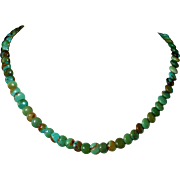 Chinese Turquoise Choker Style Necklace