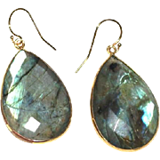 Luscious Faceted Labradorite Earrings