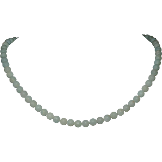 Matte Amazonite Short  Necklace