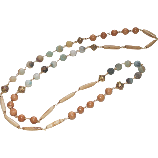 Long and Versatile Earthtone Necklace