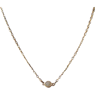 Moonstone on 14K Gold-Filled Chain