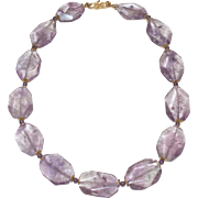 Natural Ametrine Nugget Designer Necklace
