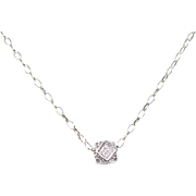 Pavé Cubic Zirconia 12 Sided Polygon on Sterling Silver Chain