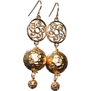 Gold Foil and Vermeil Statement Earrings