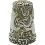 An Indian silver thimble from the period of the Raj. c 1870