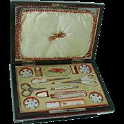 A Palais Royal sewing box. Sewing. c 1800