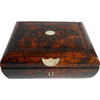 A French Palais Royal box with steel studding. c 1800
