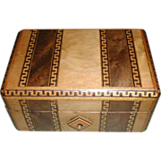A child's inlaid sewing box. c 1870