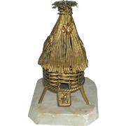 A French beehive etui - case only.  c1860