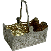 A sweet little sterling silver basket. Hall marked 1889.