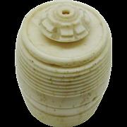 An English mutton bone cotton barrel c 1800.