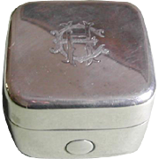 English silver traveling ink well.  Hall marked in 1918