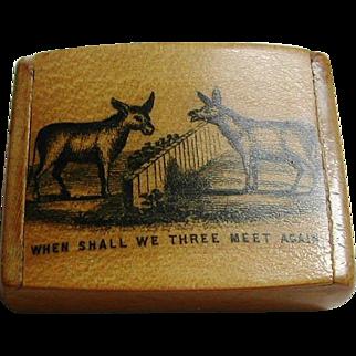 A Scottish novelty snuff box. c 1860. Retailer Frankau & Co.